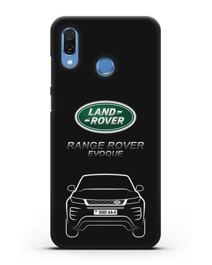 Чехол Range Rover Evoque с номерным знаком силикон черный для Honor Play