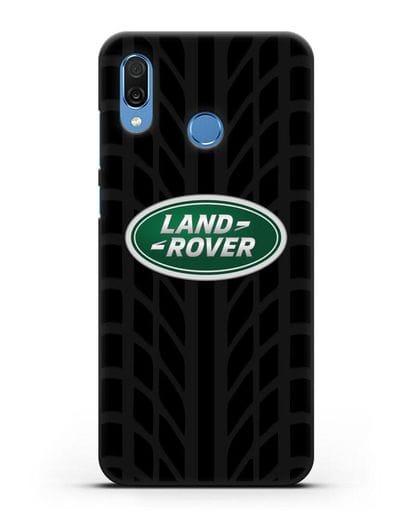Чехол с эмблемой Land Rover с протектором шин силикон черный для Honor Play