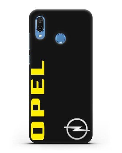 Чехол с надписью Opel и логотипом силикон черный для Honor Play