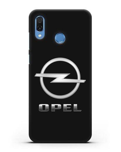 Чехол с логотипом Opel силикон черный для Honor Play