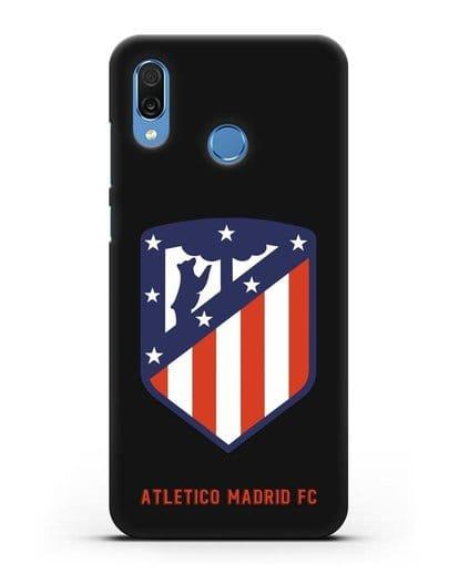 Чехол с надписью FC Atletico Madrid и логотипом силикон черный для Honor Play