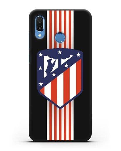 Чехол с эмблемой FC Atletico Madrid силикон черный для Honor Play