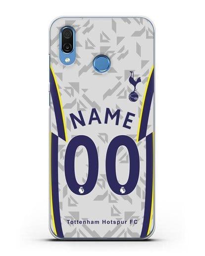 Именной чехол ФК Тоттенхэм с фамилией и номером (сезон 2020-2021) домашняя форма силикон прозрачный для Honor Play