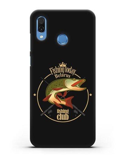 Чехол с логотипом Fishing today Belarus силикон черный для Honor Play