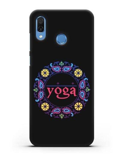 Чехол с надписью Yoga силикон черный для Honor Play