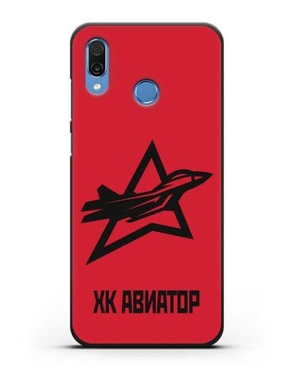 Чехол с эмблемой ХК Авиатор силикон черный для Honor Play
