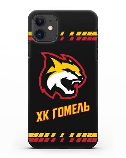 Чеxол с логотипом ХК Гомель силикон черный для iPhone 11