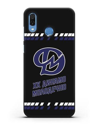 Чеxол с логотипом ХК Динамо-Молодечно силикон черный для Honor Play