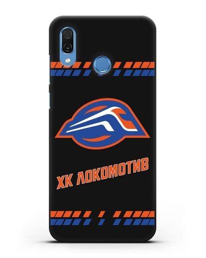 Чеxол с логотипом ХК Локомотив-Орша силикон черный для Honor Play