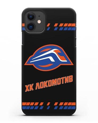 Чеxол с логотипом ХК Локомотив-Орша силикон черный для iPhone 11