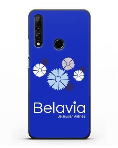 Чехол с корпоративной символикой Белавиа силикон черный для Honor 9X