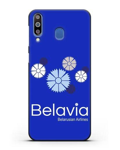 Чехол с корпоративной символикой Белавиа силикон черный для Samsung Galaxy M30 [SM-M305F]