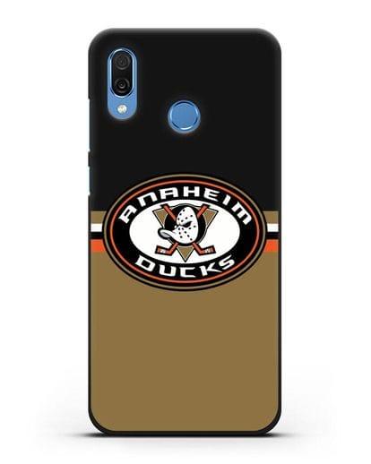 Чехол с символикой Anaheim Ducks силикон черный для Honor Play
