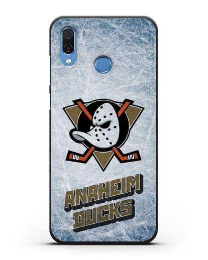 Чехол с рисунком Anaheim Ducks силикон черный для Honor Play