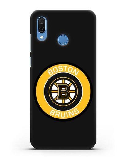 Чеxол с логотипом Boston Bruins силикон черный для Honor Play