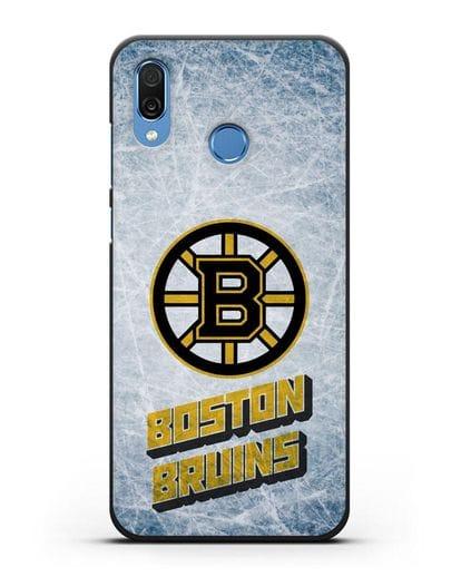 Чехол с рисунком Boston Bruins силикон черный для Honor Play