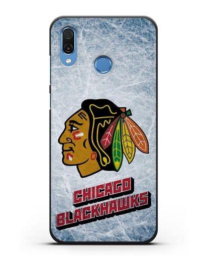 Чехол с рисунком Chicago Blackhawks силикон черный для Honor Play