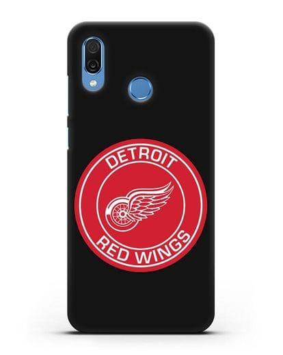 Чеxол с логотипом Detroit Red Wings силикон черный для Honor Play