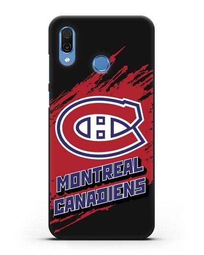 Чехол с надписью ХК Монреаль Канадиенс силикон черный для Honor Play