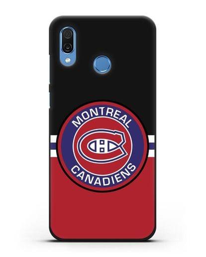 Чехол с символикой Montreal Canadiens силикон черный для Honor Play