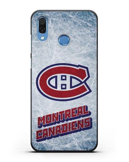 Чехол с рисунком Montreal Canadiens силикон черный для Honor Play