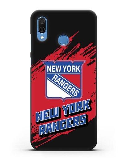Чехол с надписью ХК Нью-Йорк Рейнджерс силикон черный для Honor Play