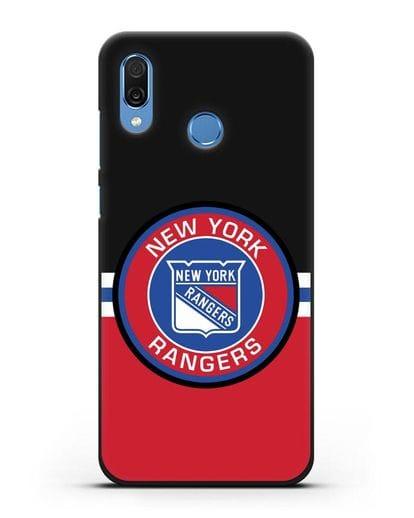 Чехол с символикой New York Rangers силикон черный для Honor Play