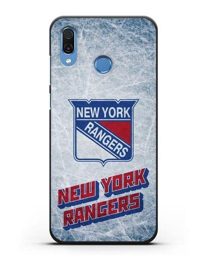 Чехол с рисунком New York Rangers силикон черный для Honor Play