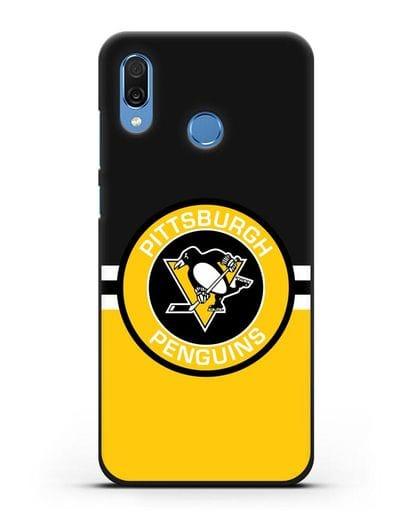 Чехол с символикой Pittsburgh Penguins силикон черный для Honor Play