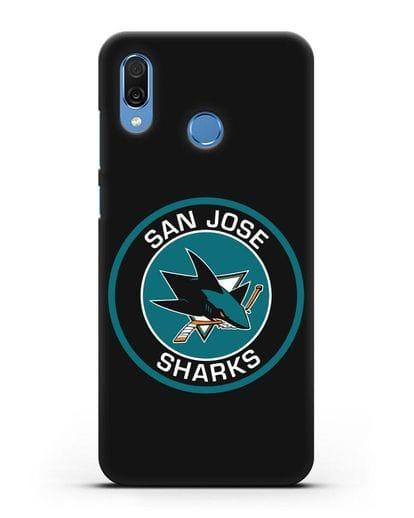 Чеxол с логотипом San Jose Sharks силикон черный для Honor Play