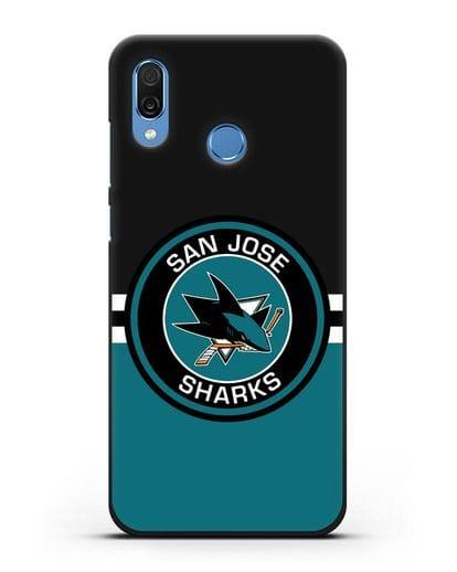 Чехол с символикой San Jose Sharks силикон черный для Honor Play
