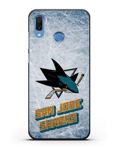 Чехол с рисунком San Jose Sharks силикон черный для Honor Play