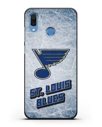 Чехол с рисунком St. Louis Blues силикон черный для Honor Play