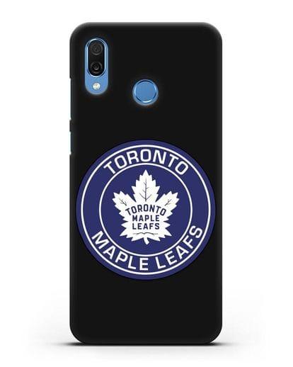 Чеxол с логотипом Toronto Maple Leafs силикон черный для Honor Play