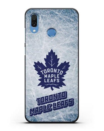 Чехол с рисунком Toronto Maple Leafs силикон черный для Honor Play