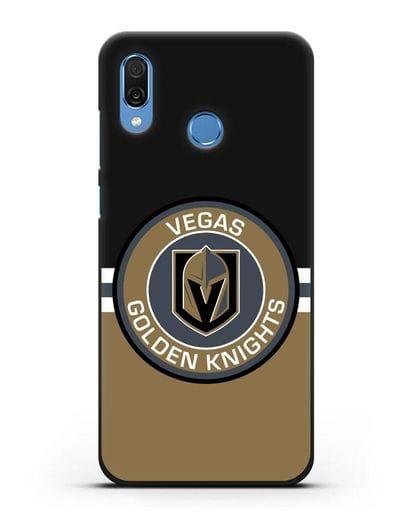 Чехол с символикой Vegas Golden Knights силикон черный для Honor Play