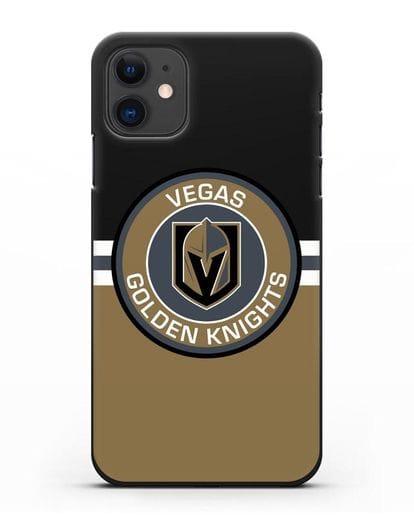 Чехол с символикой Vegas Golden Knights силикон черный для iPhone 11