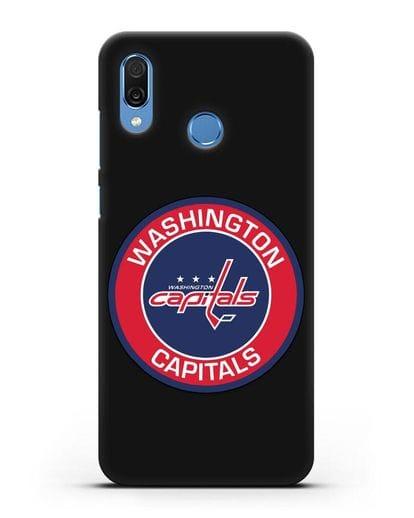 Чеxол с логотипом Washington Capitals силикон черный для Honor Play