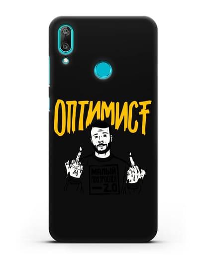 Чехол Оптимист силикон черный для Huawei Y7 2019