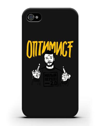Чехол Оптимист силикон черный для iPhone 4/4s