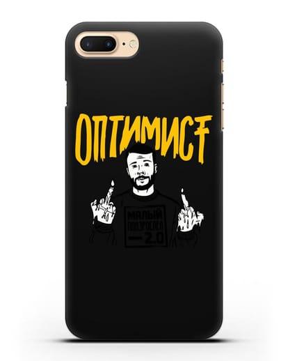 Чехол Оптимист силикон черный для iPhone 7 Plus