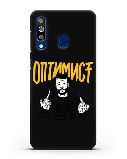 Чехол Оптимист силикон черный для Samsung Galaxy A60 [SM-A606F]