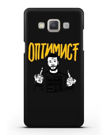Чехол Оптимист силикон черный для Samsung Galaxy A7 2015 [SM-A700F]