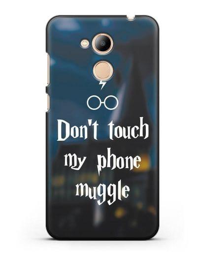 Чехол с надписью Don't touch my phone muggle силикон черный для Honor 6C Pro