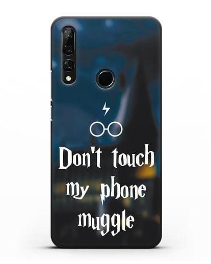 Чехол с надписью Don't touch my phone muggle силикон черный для Honor 9X