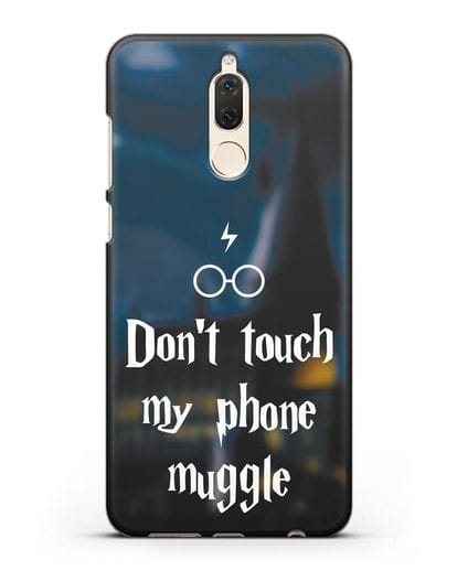 Чехол с надписью Don't touch my phone muggle силикон черный для Huawei Mate 10 Lite