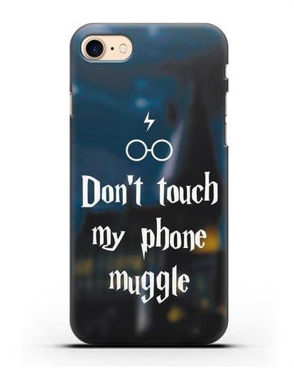 Чехол с надписью Don't touch my phone muggle силикон черный для iPhone SE 2020