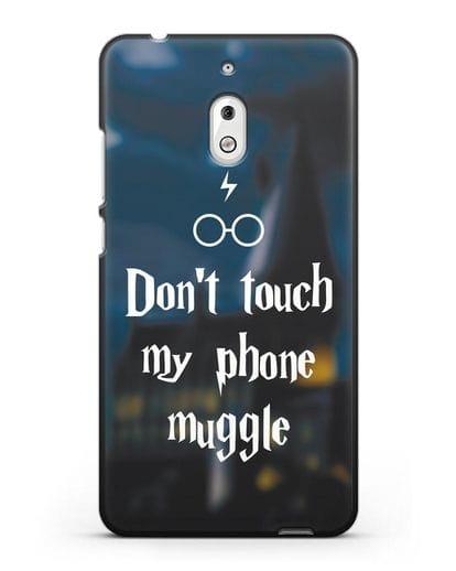 Чехол с надписью Don't touch my phone muggle силикон черный для Nokia 2.1