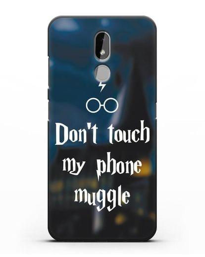 Чехол с надписью Don't touch my phone muggle силикон черный для Nokia 3.2 2019