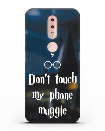 Чехол с надписью Don't touch my phone muggle силикон черный для Nokia 4.2 2019